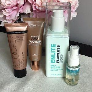 Tan and bronze bundle